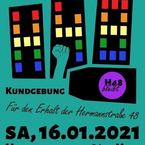 H48 Kundgebung Flyer