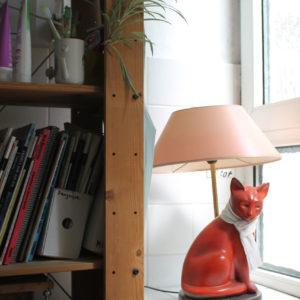 Lampe in Form einer Katze